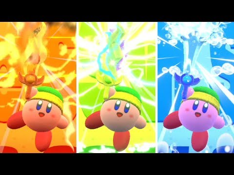 Kirby Star Allies - All Friend Combos Gameplay