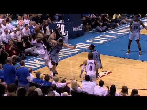 Kevin Durant fallaway three-pointer for 4-point play: Grizzlies at Thunder, Game 2