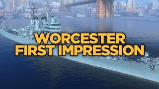 World of Warships - Worcester First Impression