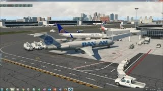 FlyJSim 727 - Initial look and start-up in X-Plane 11