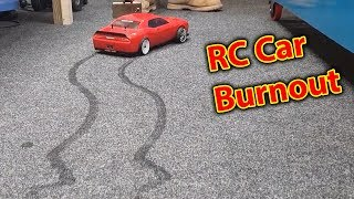 RC Car Destroys my Carpet - BURNOUT