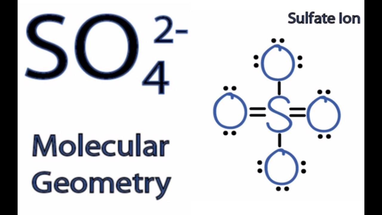 Xeo4 Lewis Structure SO4 2- Molecular Geometry