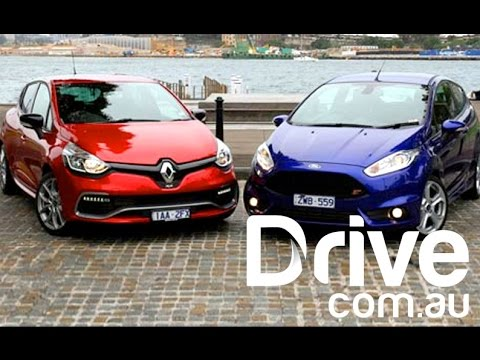 Ford Fiesta ST v Renault Clio RS Sport Video Review | Performance | Drive.com.au