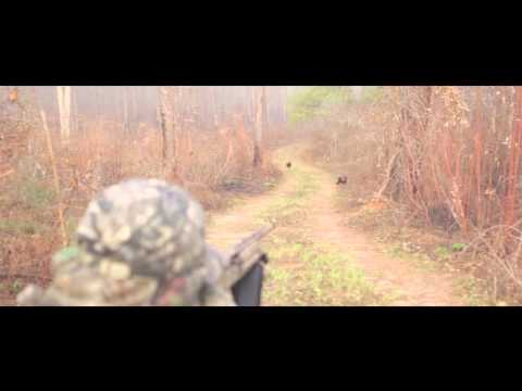 Brandon Harris double's up on a turkey hunt in Blakely, Ga. at the 2013 Annual Country Goes Huntin. Hunter - Brandon Harris - Harris Realty/Alalandco Videographer - Leighton Boggs www.southernstrea...