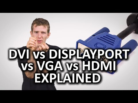 HDMI, DisplayPort, VGA, and DVI as Fast As Possible
