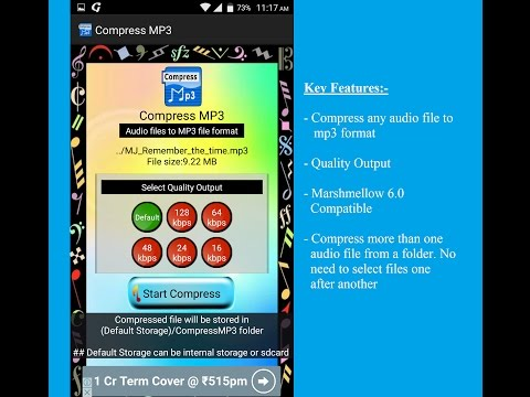 Compress Audio to MP3 Format Free Android App