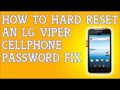 How To Hard Reset LG Viper Forgot Password