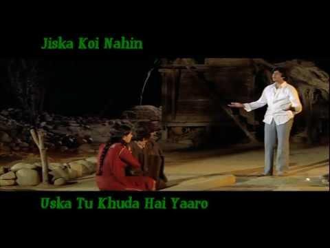 Jiska Koi Nahin Uska Tu Khuda Hai Yaaro - Kishore Kumar - Laawaris...
