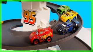 Disney Cars Lightning Mcqueen Mini Racers Tack Sets Learn Nursery Rhymes