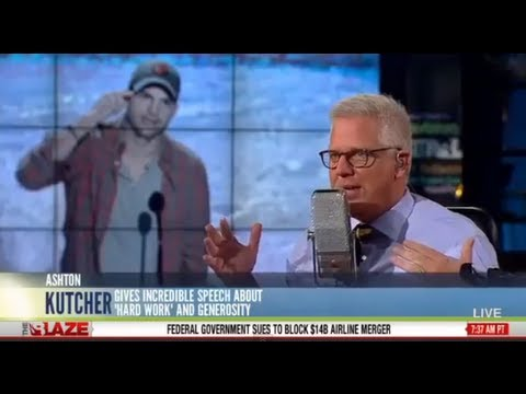 Glenn Beck Extremely Impressed with Ashton Kutcher Viral Speech: 'Something Is Happening'