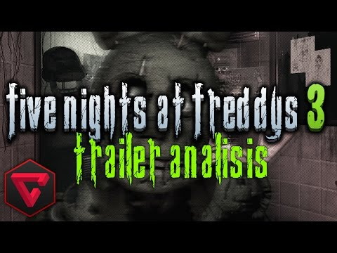 FIVE NIGHTS AT FREDDY'S 3 TRAILER ANÁLISIS - iTownGamePlay