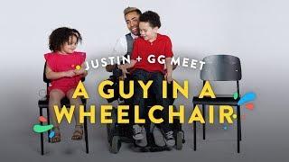 Kids Meet a Man in a Wheelchair (Justin and GG) | Kids Meet | HiHo Kids