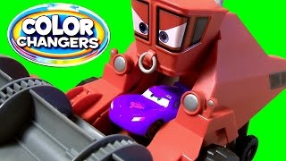 Disney Pixar Cars Frank is Eating Lightning McQueen Color Changers Cars Frank the Combine Tractor