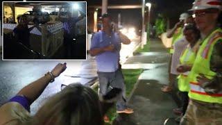 Man Gets Chills From Power Returning to Puerto Rico Neighborhood