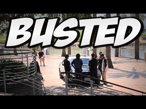 POLICE BUST US SKATEBOARDING !!! - NKA VIDS -