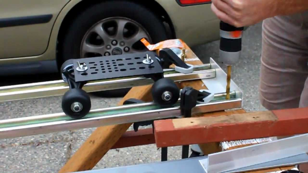 Diy Spider Trax Dolly Track Final Video Youtube