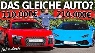 Audi R8 V10+ vs Lamborghini Huracan Spyder   Gebrauchtwagen-Check   Fahr doch