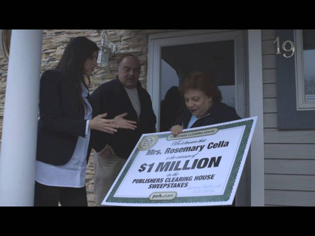 $1 Million Publishers Clearing House Winner Rosemary Cella