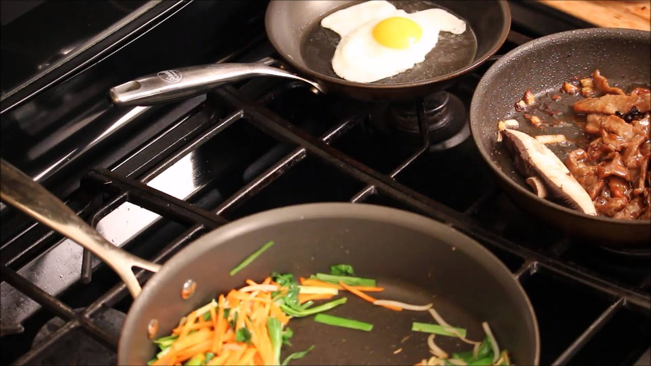 How To Make Bibimbap At Home Recipe-A Signature Korean Dish - YouTube