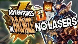 Smite: Adventures in Bronze Duel - Ra Vs. Ah Muzen Cab - AUTO ATTACK NO LASERS CHALLENGE!