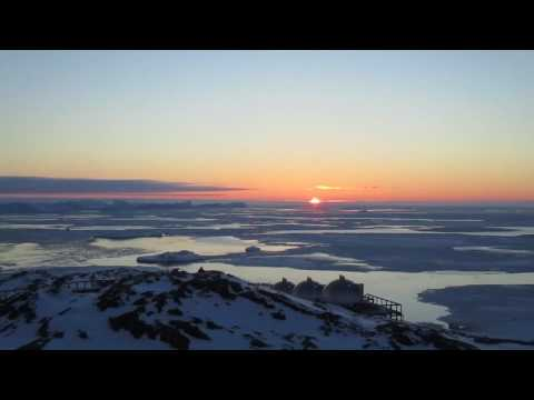Zonsondergang in Ilulissat, Groenland