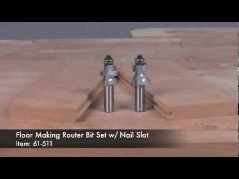Infinity Cutting Tools - Floor Making Router Bit Set w/ Nail Slot