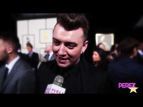 PerezTV Flashback: Sam Smith At The 2014 Grammy Awards Red Carpet!