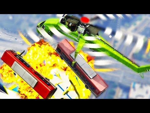 CRAZY GTA 5 STUNTS & FAILS (GTA 5 Funny Moments PC)