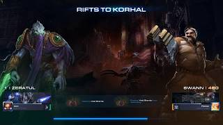 Starcraft 2 - Coop - Rifts to Korhal - Brutal - Zeratul - Lvl1 - First Time