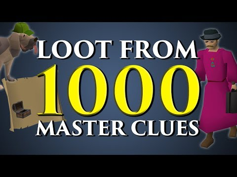 Loot from 1,000 Master Clue Scrolls - Mod Ayiza vs Mod Roq Old School RuneScape
