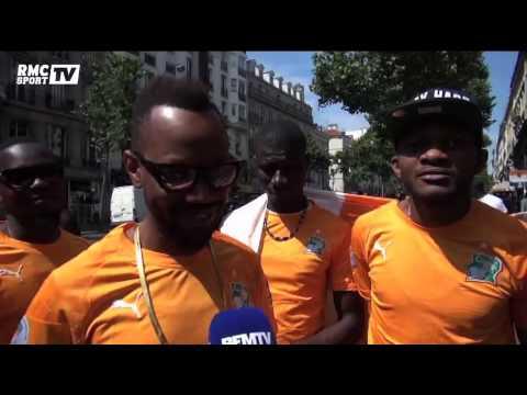 Football / Les supporters ivoiriens comptent sur leur guide Didier Drogba - 18/06