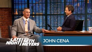 John Cena on Filming His Trainwreck Sex Scene - Late Night with Seth Meyers