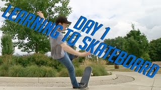 LEARNING TO SKATEBOARD - Day 1 | Learning To Fall