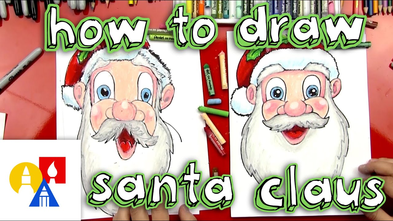 How To Draw Santa Claus's Face - YouTube