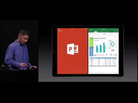iPad Pro Demo MS Office by Kirk Koenigsbauer at Apple Special Event, Sept 2015