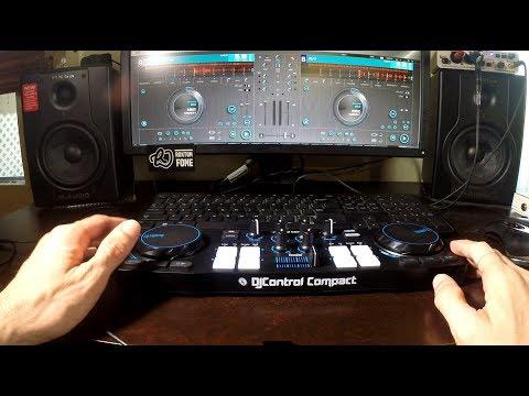 Hercules DJ Control Compact & Djuced 18 (Scratching + Samples) Quick Demo - I'm a Beginner