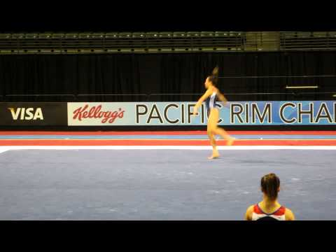 Ameilia Hundley - 2012 Kellogg's Pacific Rim Championships Podium Training - Floor Exercise