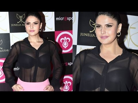 Sexy Zarine Khan in Transparent Top OMG!!