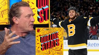 Will Bruins' David Pastrnak get to 50-in-50? | Our Line Starts | NBC Sports