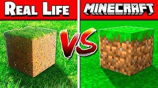 REAL MINECRAFT BLOCKS vs FAKE MINECRAFT BLOCKS!