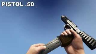 GTA V PC ALL WEAPONS IN SLOW MOTION FPP, 60 FPS  [PC, MAX DETAILS, FULL HD, 60 FPS]