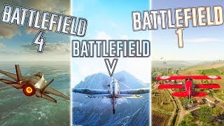 AIR COMBAT in BF5 vs BF1 vs BF4 (WHO WON?) | Battlefield 5 Air Combat Gameplay