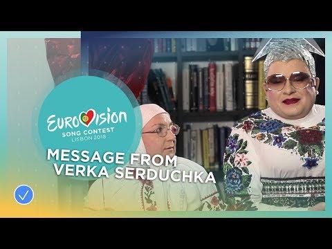 Verka Serduchka has a special message for MELOVIN from Ukraine