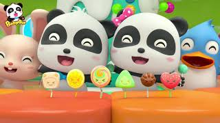 Baby Panda's Candy Shop   Rainbow Candy, Cotton Candy, Fruit Candy   Kids Song   BabyBus