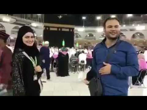 First man propose to a girl in Mecca in Saudi Arabia