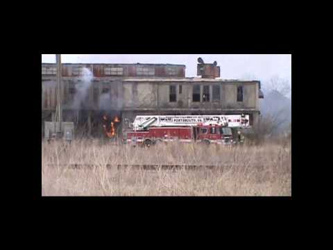 Fire attack: Sizing up an abandoned factory
