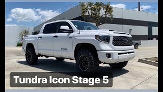 2019 Tundra Platinum Icon Stage 5 Lift & Body Mount Chop 35's