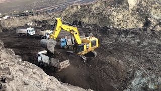 Cat 6015B Excavator Loading Trucks With Two Passes - Sotiriadis Brothers