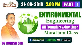 🔴 ENVIRONMENT | ALL FORMULA'S & ONE LINER by Avnish Sir | RRB JE CBT 2 | SSC JE