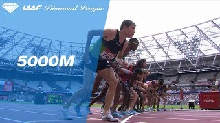 Paul Chelimo 13.14.01 Wins Men's 5000m - IAAF Diamond League London 2018